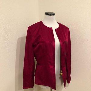 Adrianna Papell   100% silk zip up blazer   12